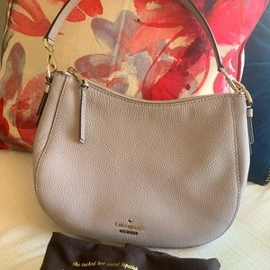 Kate Spade Small Crossbody Stone Gray Purse